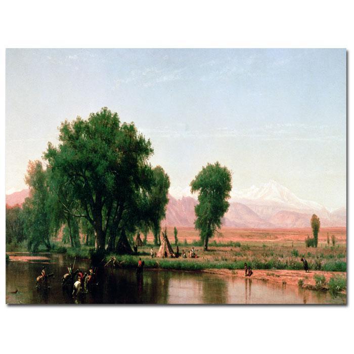 Thomas Worthington 'Crossing the Ford, Colorado' Print
