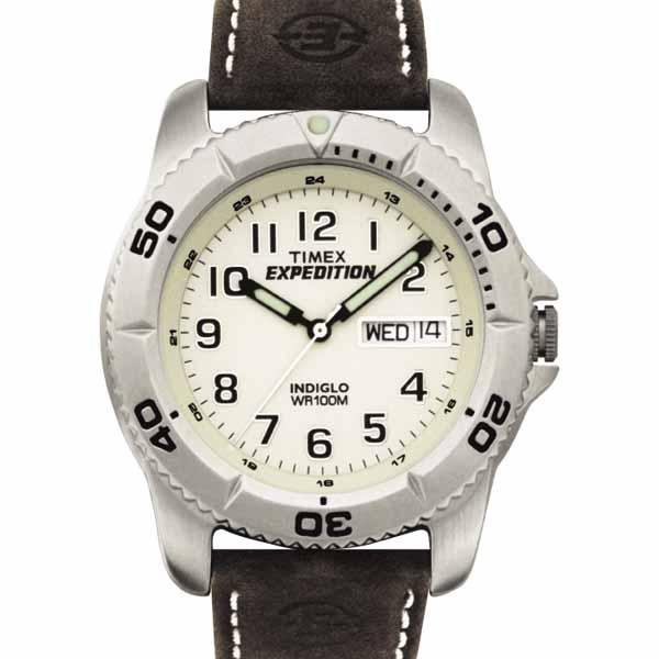 Timex Men's Expedition Brown Leather Strap Watch