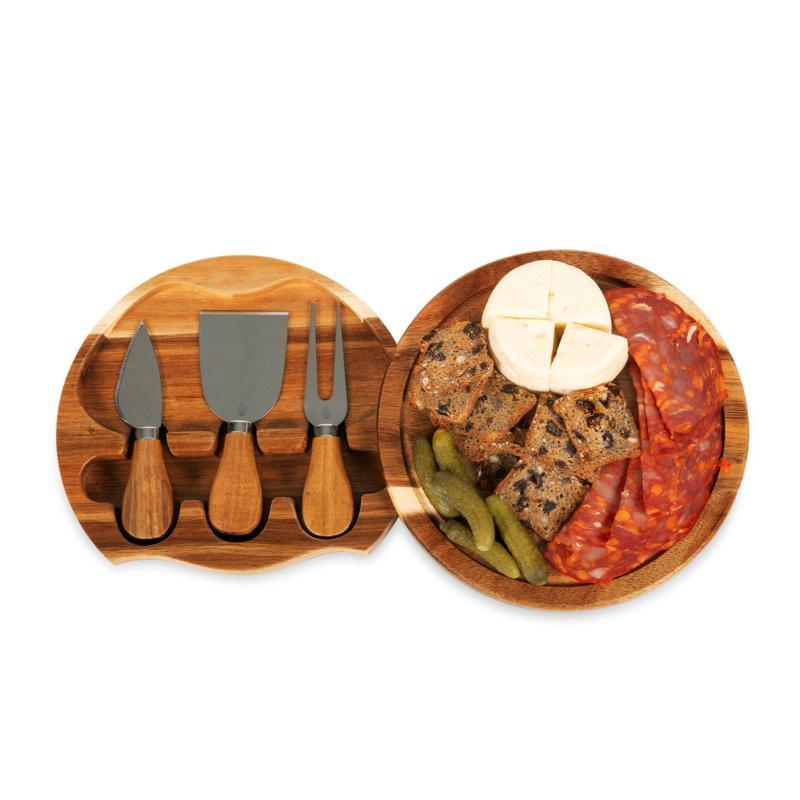 Toscana by Picnic Time Acacia Brie Cheese Board (Acacia Wood)