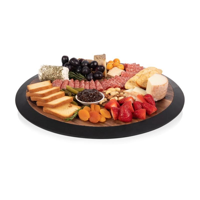 Toscana by Picnic Time Lazy Susan (Fire Acacia Wood)