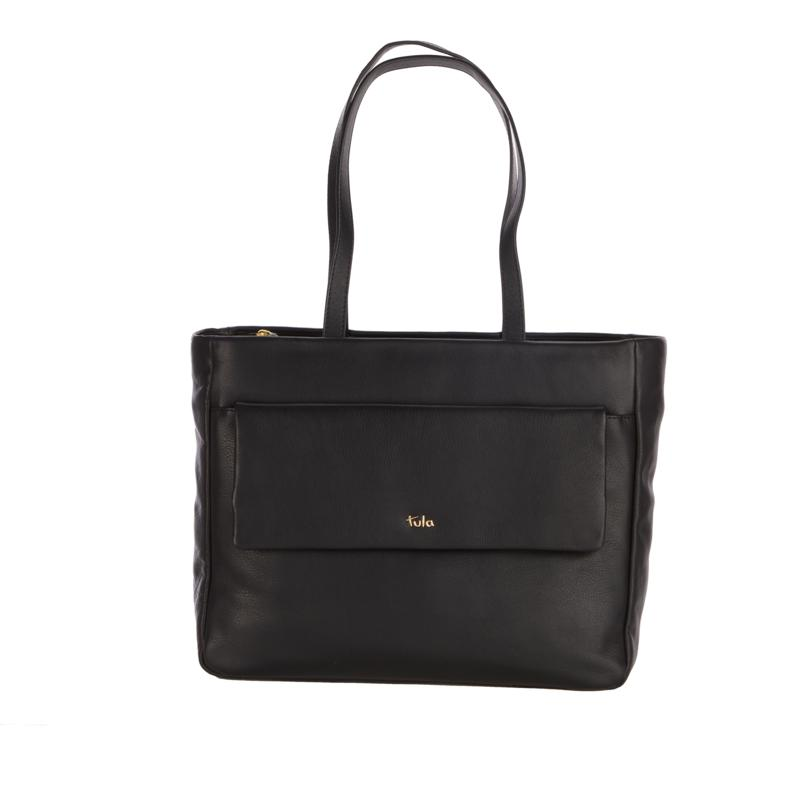 Tula England Soft Originals Leather Large Zip-Top Tote
