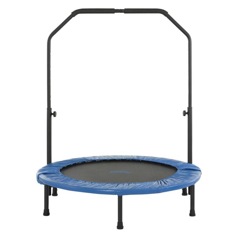 """Upper Bounce 40"""" Mini Foldable Rebounder Fitness Trampoline w/Handrail"""