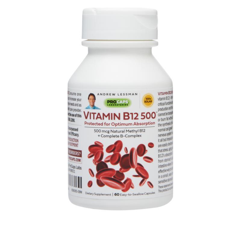 Vitamin B12-500 - 60 Capsules