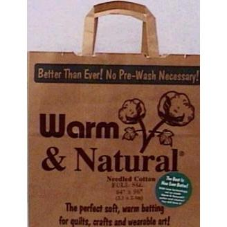 "Warm Company Warm and Natural Cotton Batting 90""Hx108""W"