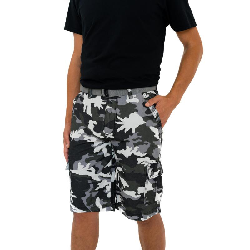 WearFirst State Camo Printed Belted Cargo Short
