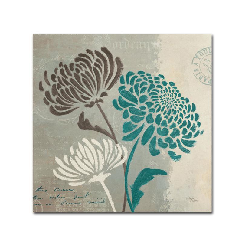 "Wellington Studio ""Chrysanthemums II"" Canvas Art"