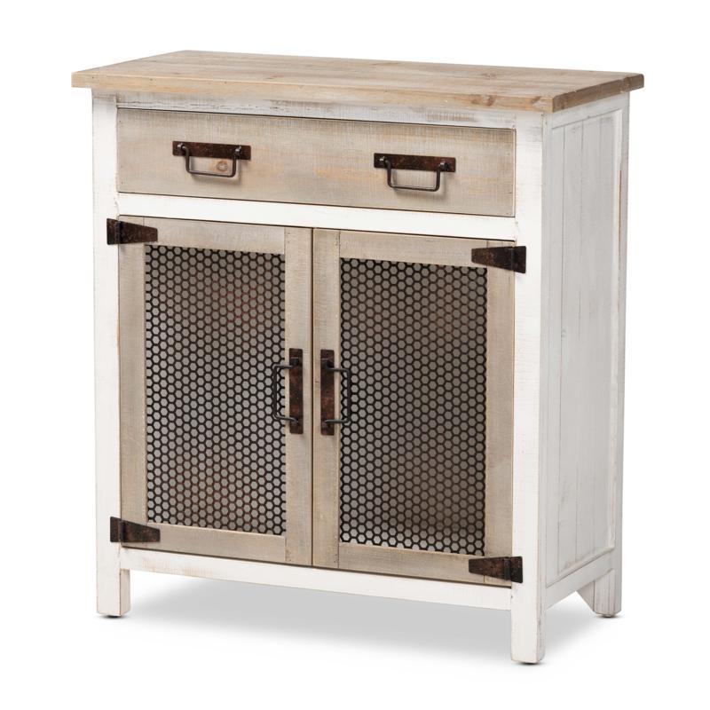 Wholesale Interiors Deacon Wood 2-Door Storage Cabinet