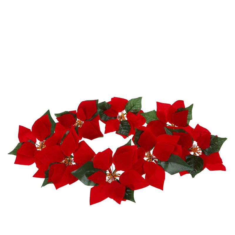 Winter Lane 8-pack Battery-Operated Lighted Poinsettia Clips