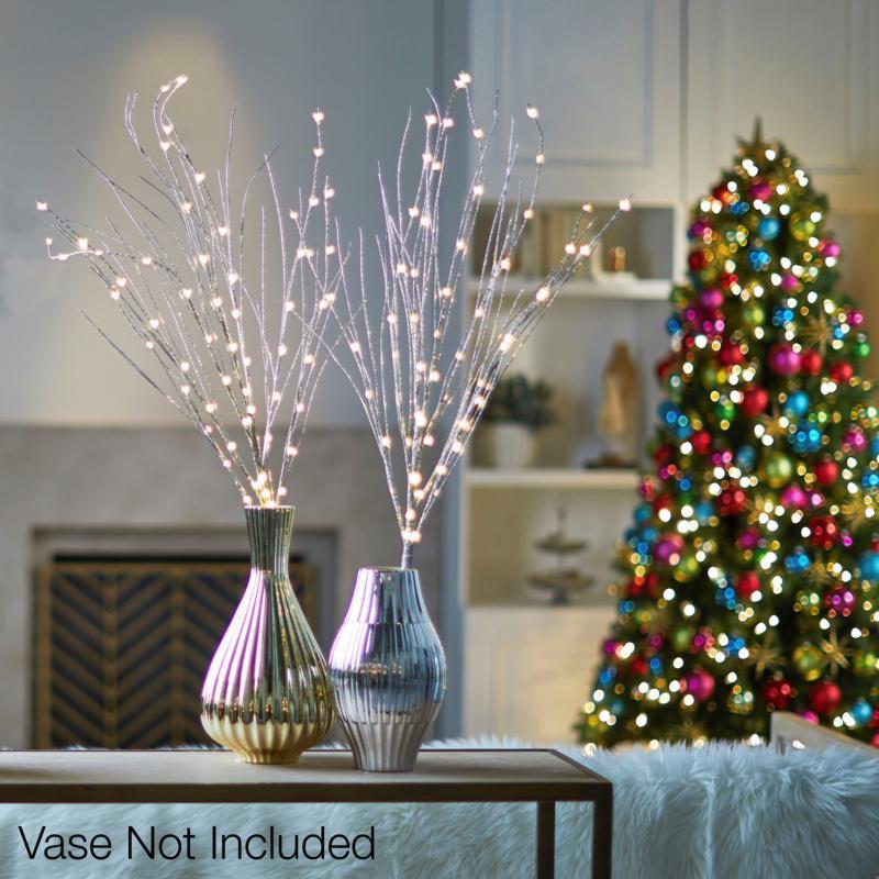 Winter Lane Glitter Twigs 2-pack
