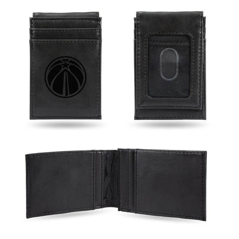 Wizards Laser-Engraved Front Pocket Wallet - Black