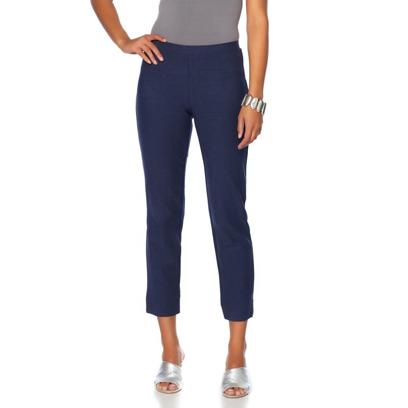 WynneLayers Essential Knit Crepe Ankle Pant - Fashion Colors
