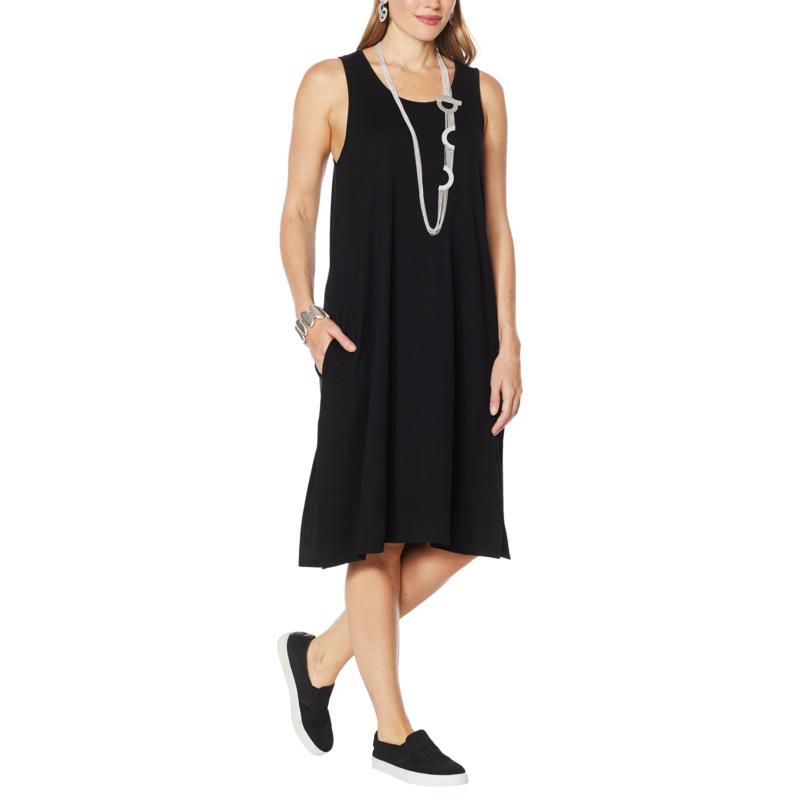 WynneLayers Jersey Knit Tank Dress with Pockets