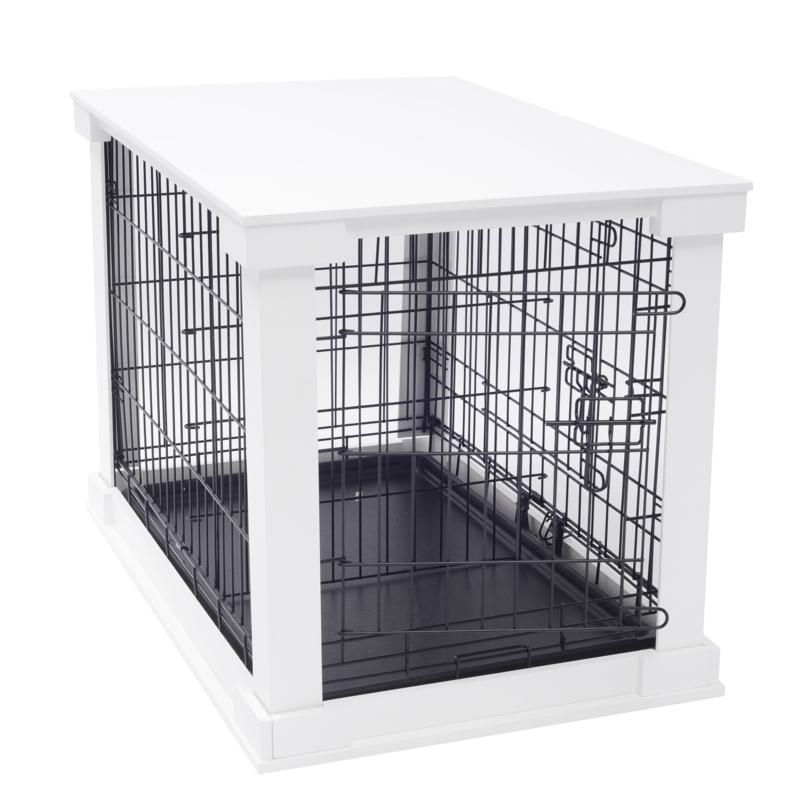 zoovilla Medium Cage with Crate Cover - White